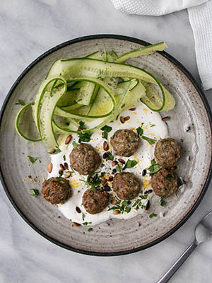 Mini Herby Lamb Meatballs | My Kitchen Love
