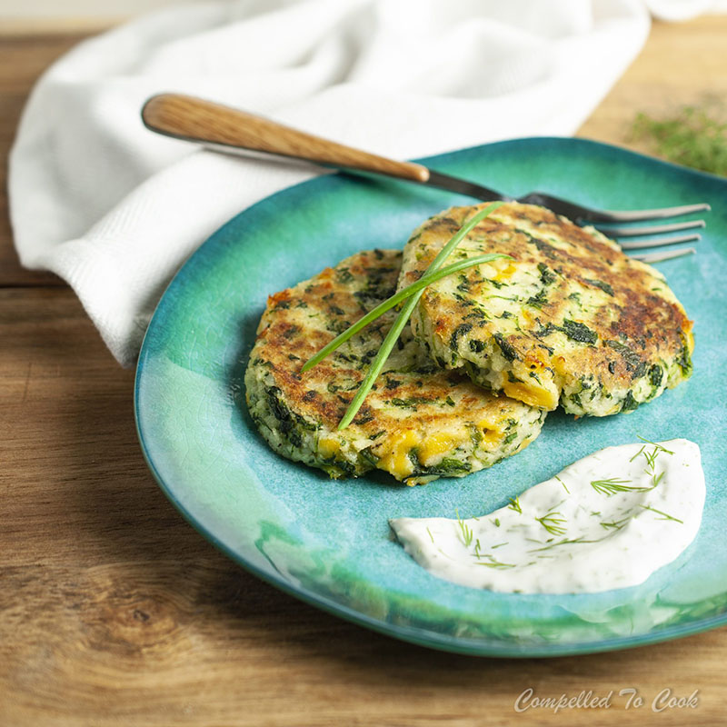Spinach and Cheddar Potato Pancakes | Compelled To Cook