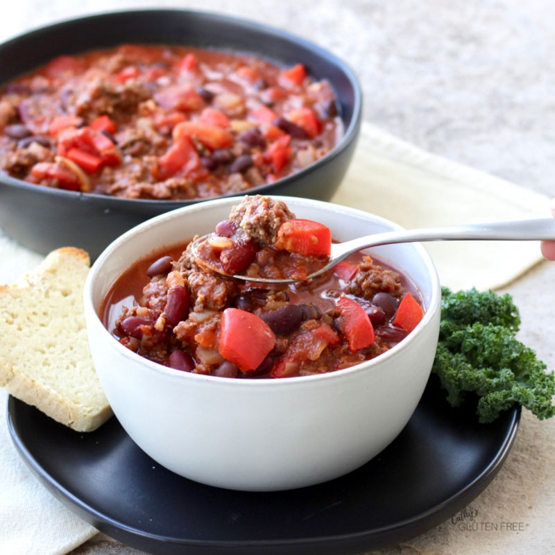 Slow Cooker Chili Made In the Instant Pot | Cathy's Gluten Free