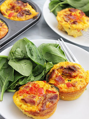 Bacon and Egg Muffin Cups With Spinach | Slow the Cook Down