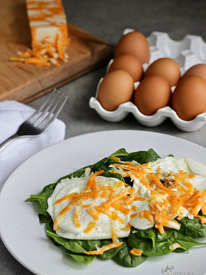 Easy Warm Spinach Salad With Egg | Cathy's Gluten Free