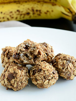 Lactation Friendly Banana Bread Energy Bites | She Bakes Here