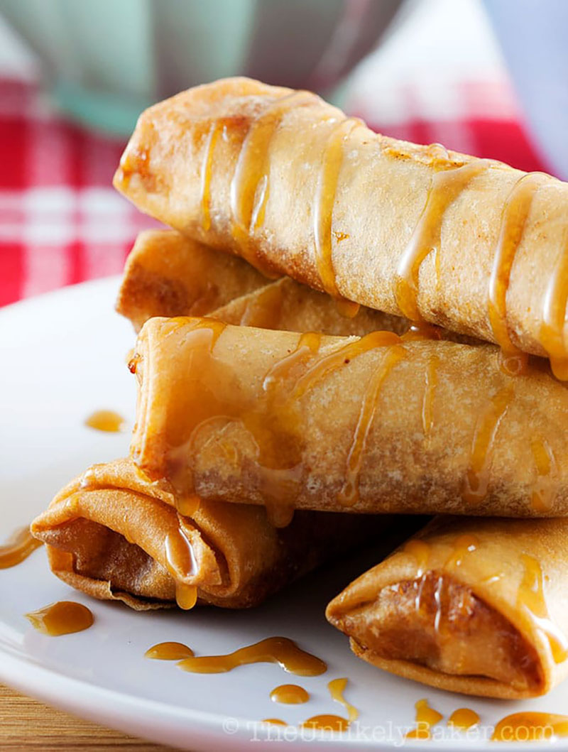 Filipino Turon (Banana Lumpia) | The Unlikely Baker