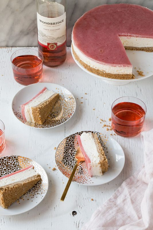 No Bake Rhubarb Cheesecake | My Kitchen Love