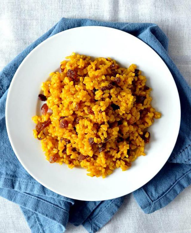 Golden Turmeric Raisin Rice | Sondi Bruner