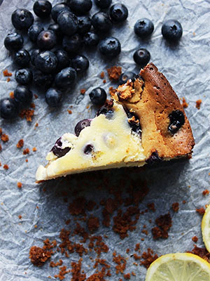 Baked Lemon Blueberry Cheesecake | Slow the Cook Down