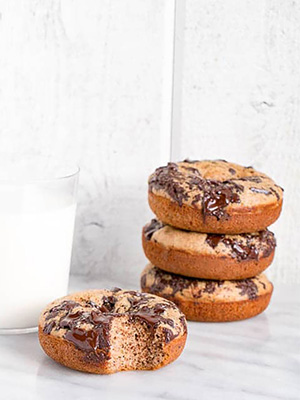 Banana Chocolate Buckwheat Donuts | My Kitchen Love