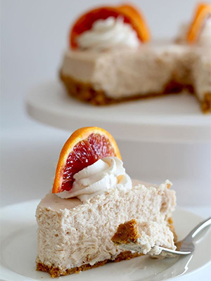 Blood Orange Cheesecake | Nina Kneads to Bake