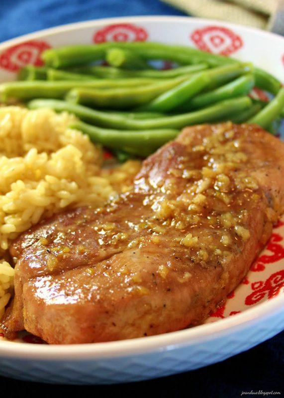 Sticky Garlic Pork Chops | Jo and Sue