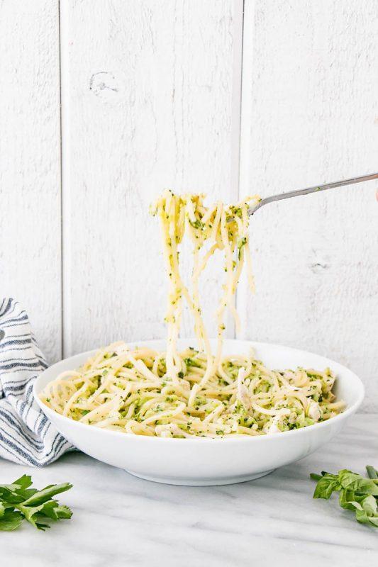 One Pot Herb and Garlic Chicken Pasta | My Kitchen Love