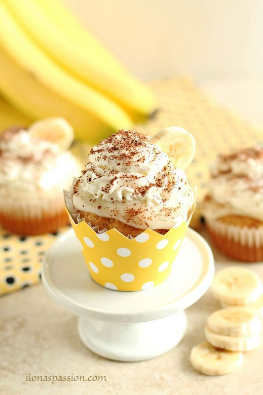 Banana Cream Pie Cupcakes | Ilona's Passion