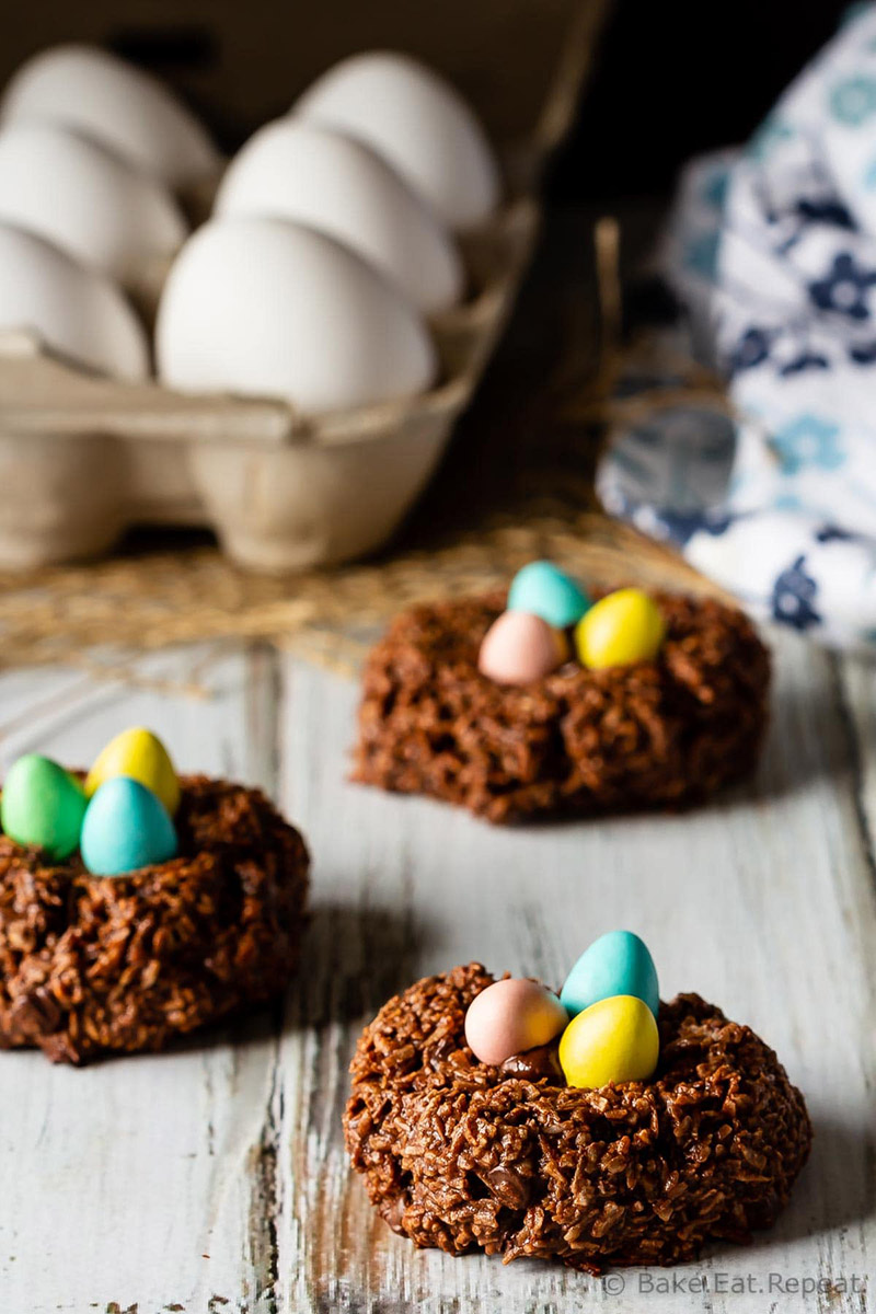 Bird's Nest Chocolate Macaroon Cookies | Bake. Eat. Repeat