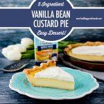 5 Ingredient Vanilla Bean Custard Pie   Food Bloggers of Canada
