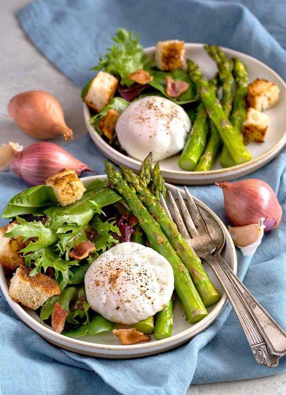 Asparagus Salad Lyonnaise | Culinary Cool