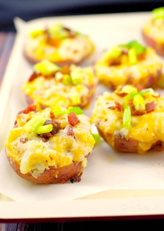 Caesar Twice Baked Potatoes | Food Meanderings