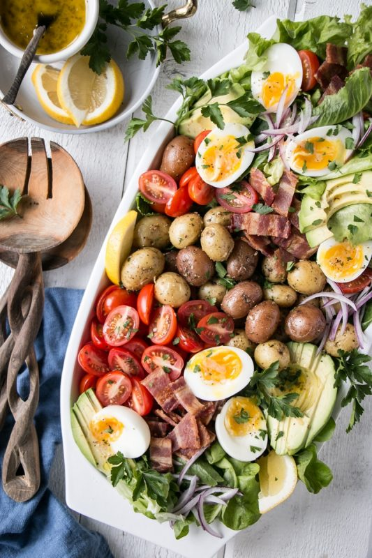Healthy Potato Cobb Salad | My Kitchen Love