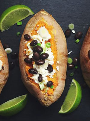 Twice Baked Chipotle Sweet Potatoes | How To Eat