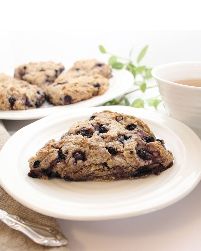 Gluten Free Vegan Blueberry Scones