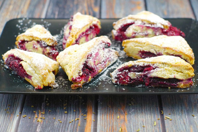 Raspberry Lemon Scones | Food Meanderings