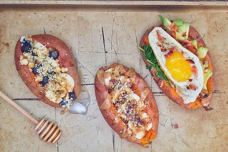 Stuffed Breakfast Sweet Potatoes | Holistic Foodies