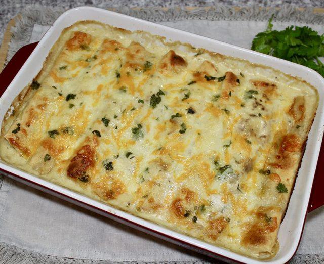 Chicken and White Bean Enchiladas | Old Cut Kitchen