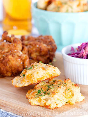 Easy Cheddar Biscuits | The Unlikely Baker