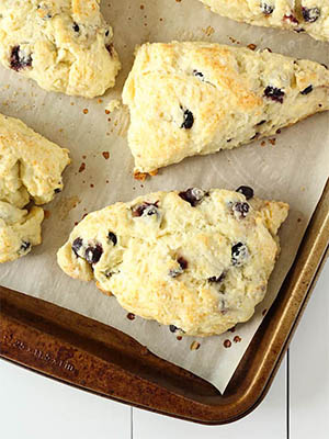 Saskatoon Berry Lemon Scones | Cooking In My Genes