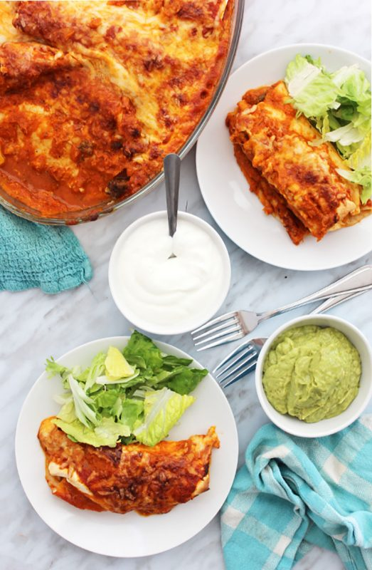 Mexican Chili Beef Enchiladas | Slow The Cook Down