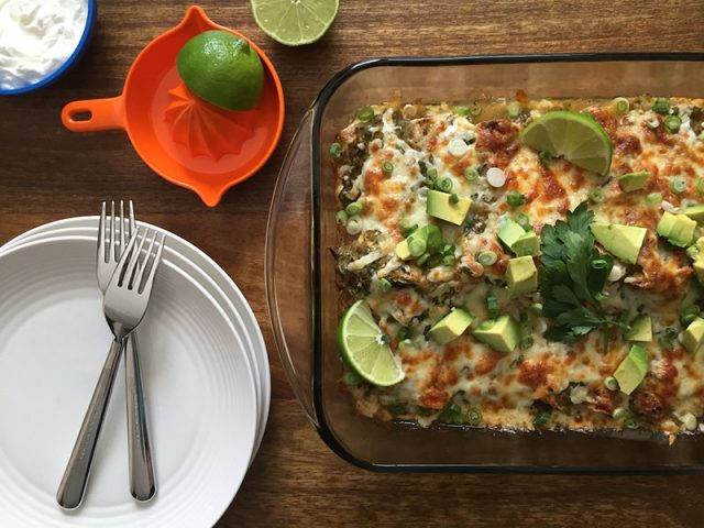 Vegetarian Green Chile Enchiladas | How To Eat