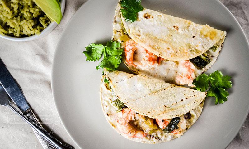 Spot Prawn and Raja Enchiladas | Diversivore