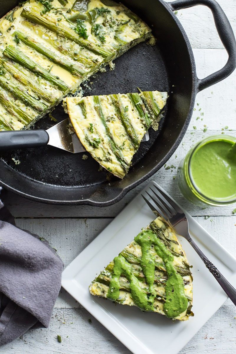 Green Goddess Crustless Quiche | Crumb Top Baking