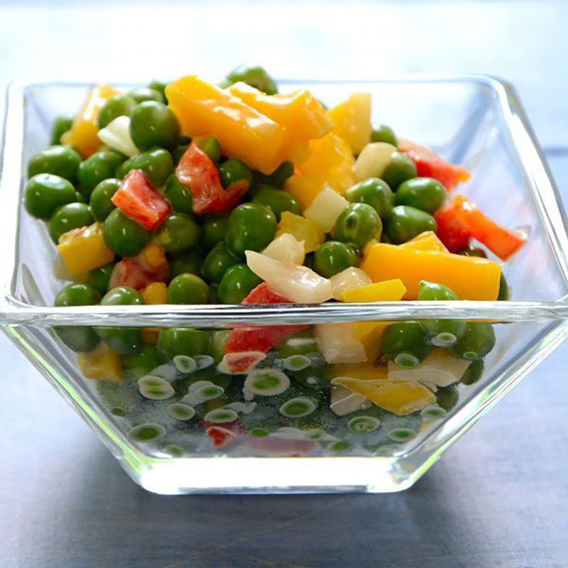 Creamy Garden Pea and Mango Salad