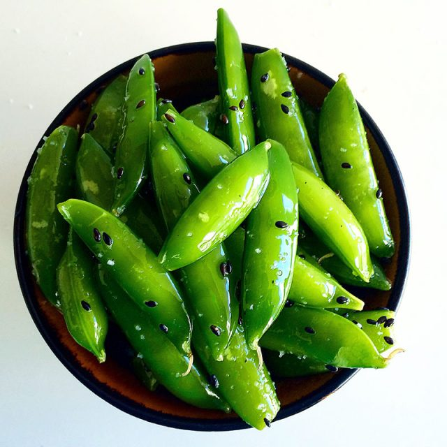 Sesame Sugar Snap Peas | Everyday on Occasion