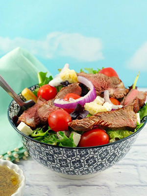 Grilled Steak Salad With Feta and Clamato Dressing | Food Meanderings