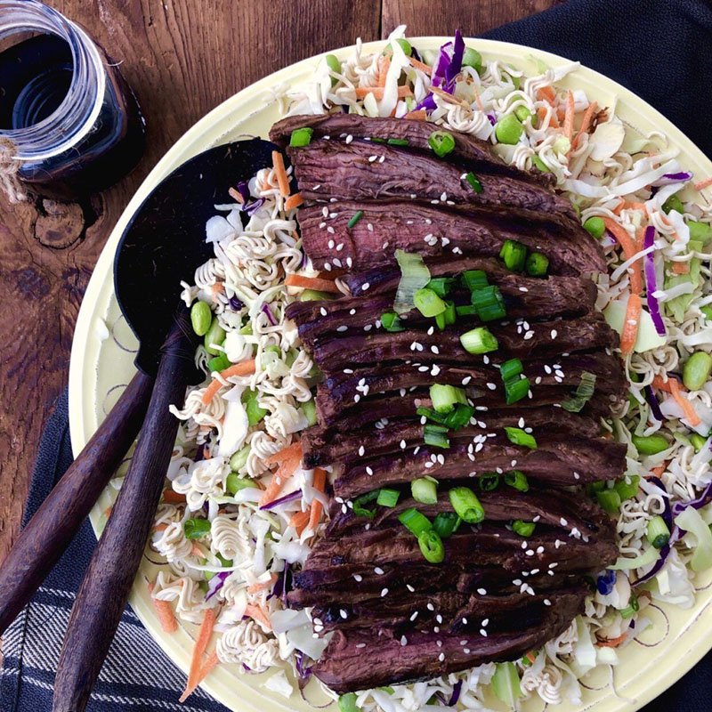 Ramen Salad With Steak by Sneaky Mommies