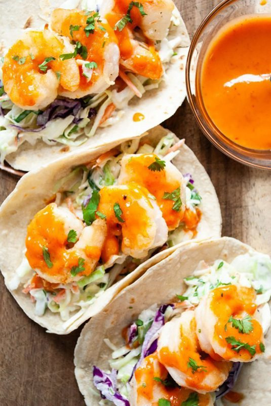 Bang Bang Shrimp Tacos | Love & Good Stuff