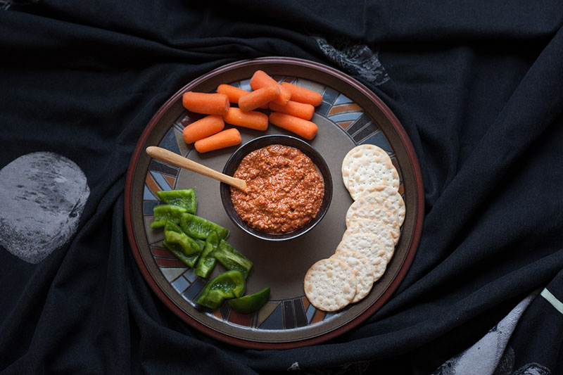 Syrian Muhammara Red Pepper Dip | Tea and Mangoes