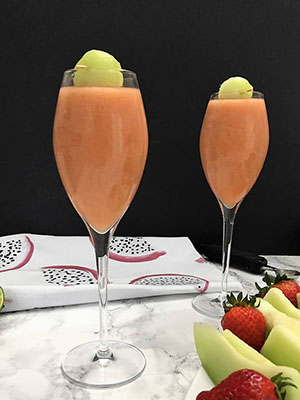 Virgin Strawberry Melon Ball | The Healthy Kitchen
