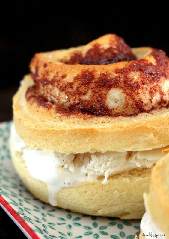 Cinnamon Bun Ice Cream Sandwiches by Jo and Sue