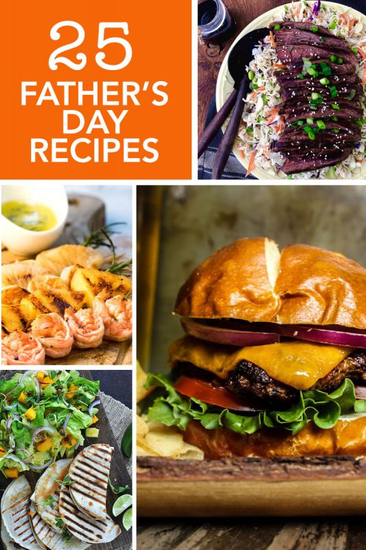 Collage of Father's Day Recipes