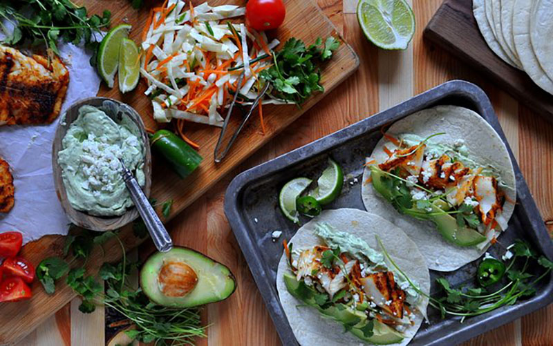 Fish Tacos With Avocado Crema | Food Bloggers of Canada