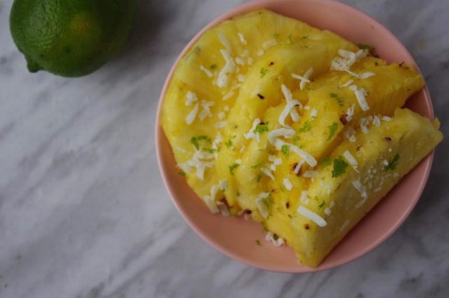 Coconut and Lime Grilled Pineapple | The Whisking Witch