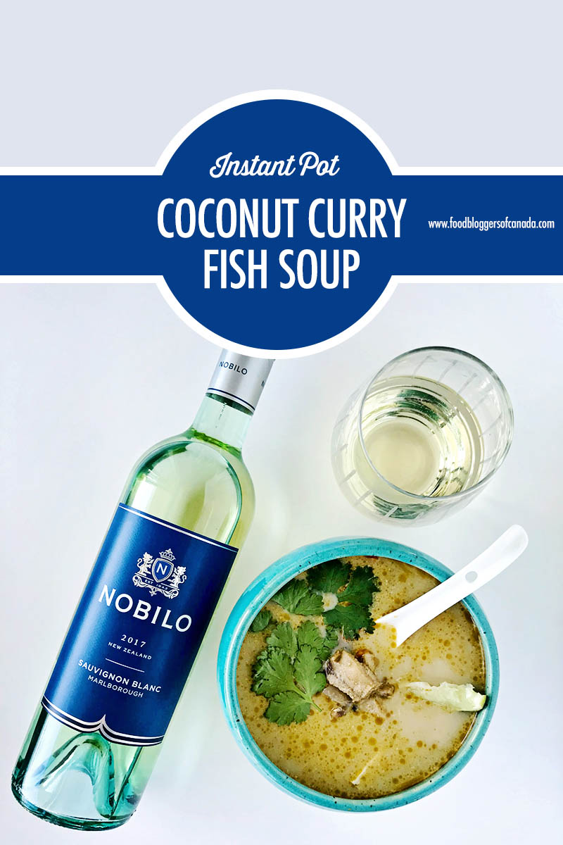 Instant Pot Coconut Curry Fish Soup | Food Bloggers of Canada