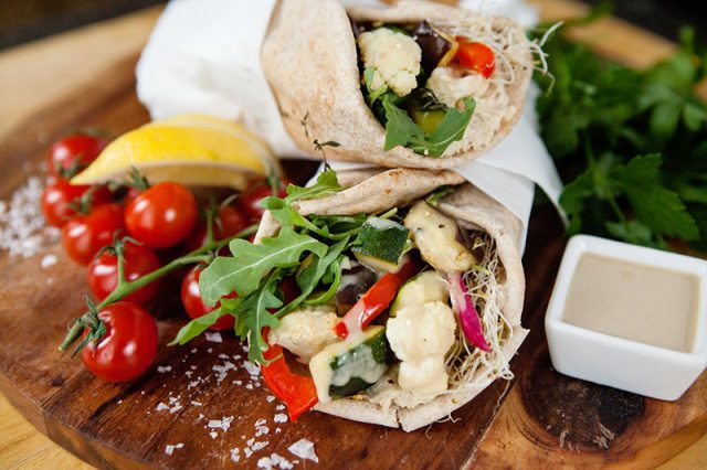 Roasted Veggie Wrap   Food Bloggers of Canada