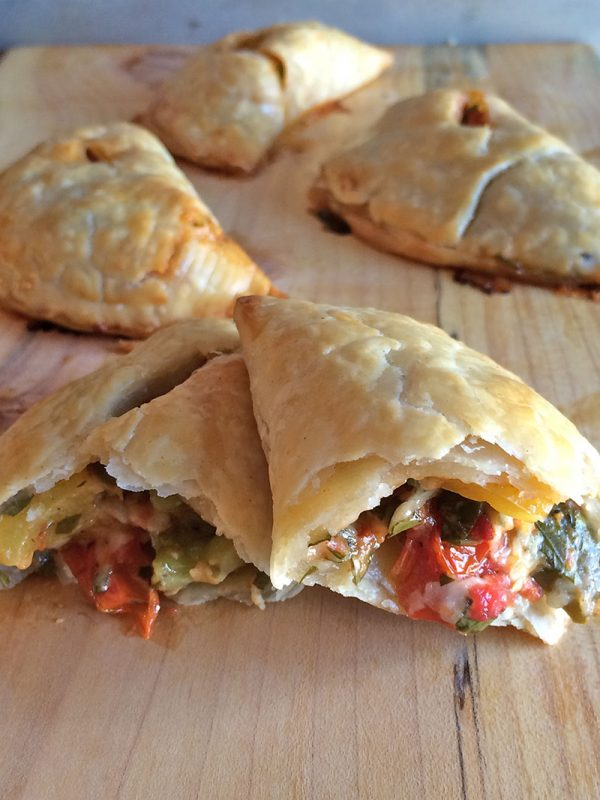 Roated Pepper and Tomato Hand Pies | Half Your Plate