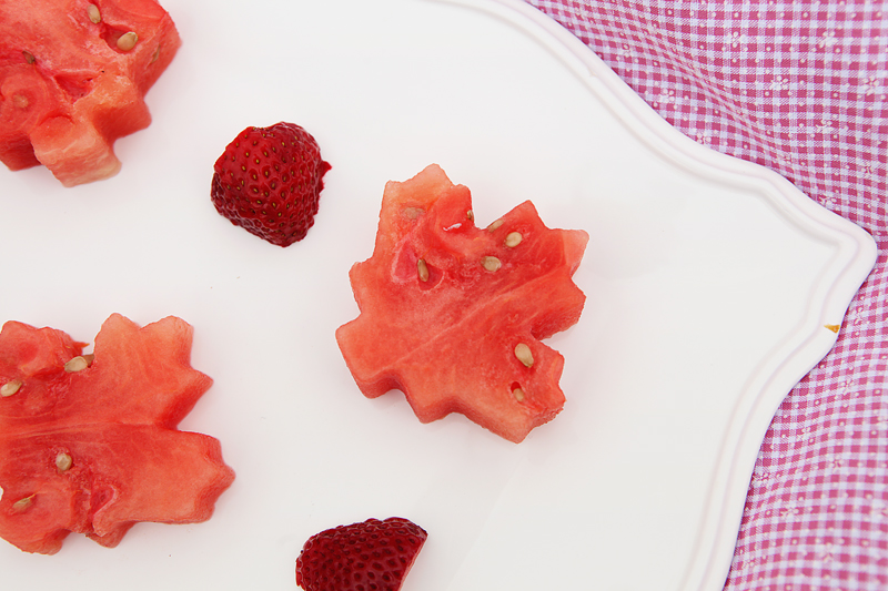 Maple Leaf Watermelon Slices   Food Bloggers of Canada