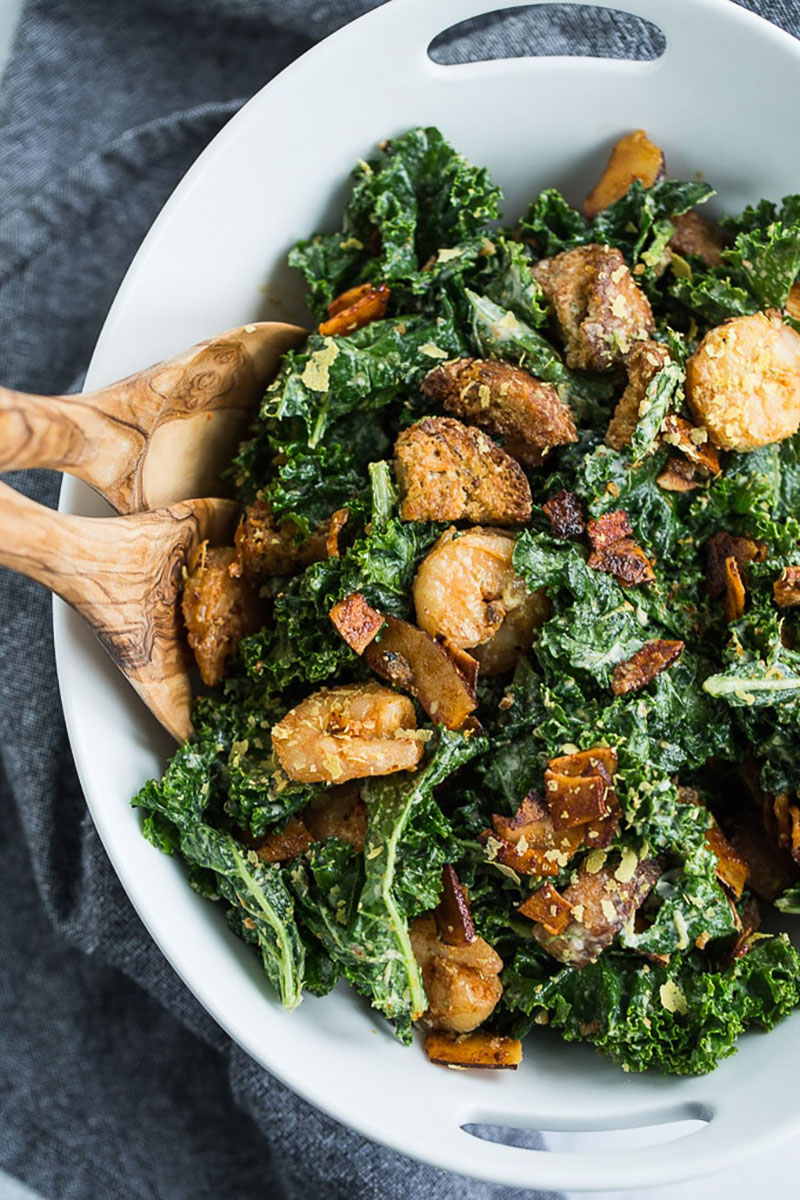 Kale Caesar Salad With