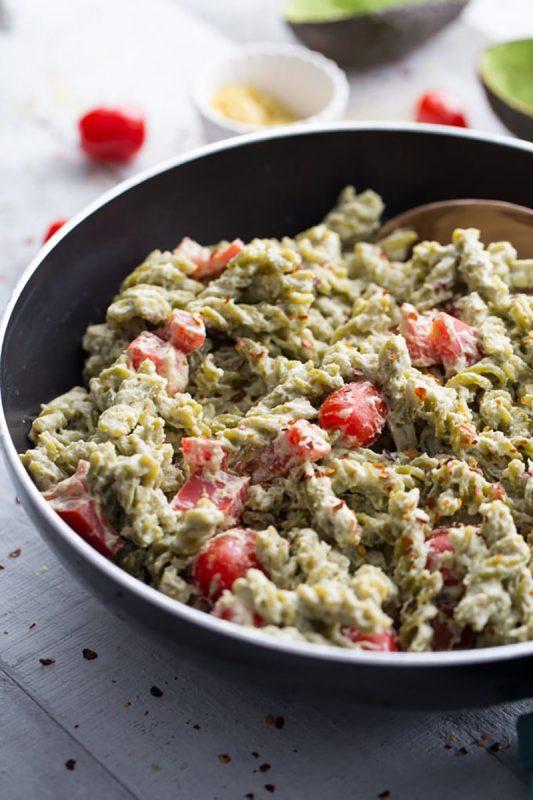 Creamy Vegan Avocado Mac and Cheese | Crumb Top Baking