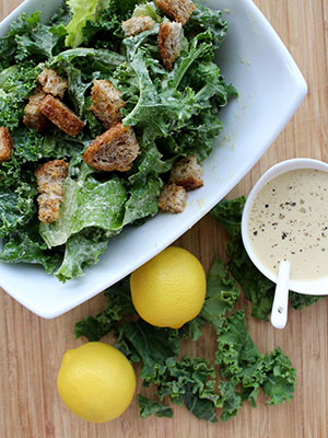 Vegan Caesar Salad With Easy Sprouted Grain Croutons | Insightful Bite