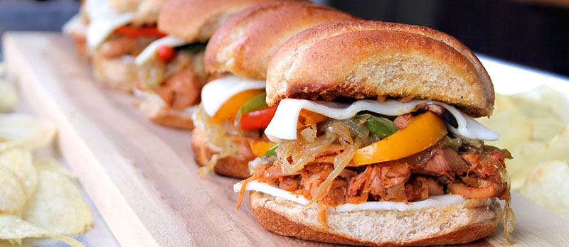Vegan Philly Cheesesteak Sliders | Jo and Sue